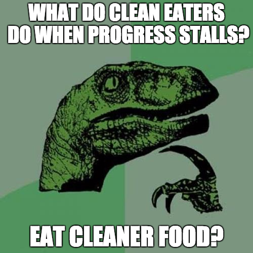 clean eating meme